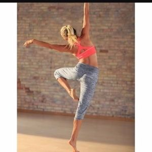 Athleta Chillax Sweat Pant Capri Heather Gray sz M